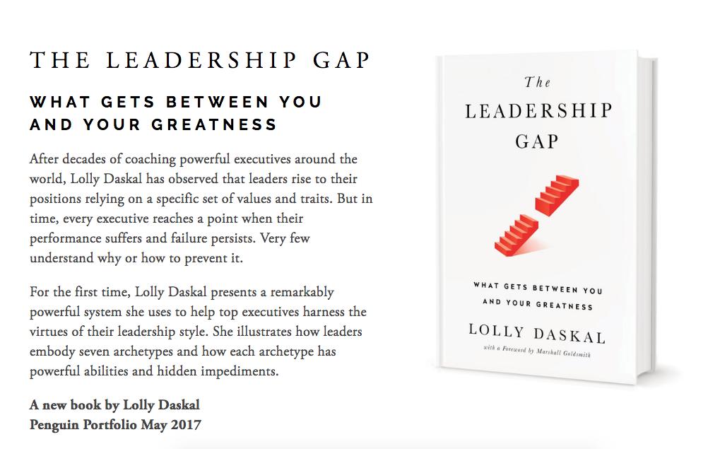 Leadeship Gap Book Page Image