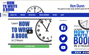 Learn How To Write A Book In 2 Hours Site Image